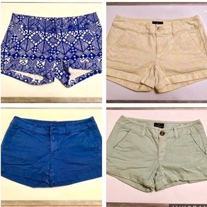 American eagle shorts 4 pairs size 2